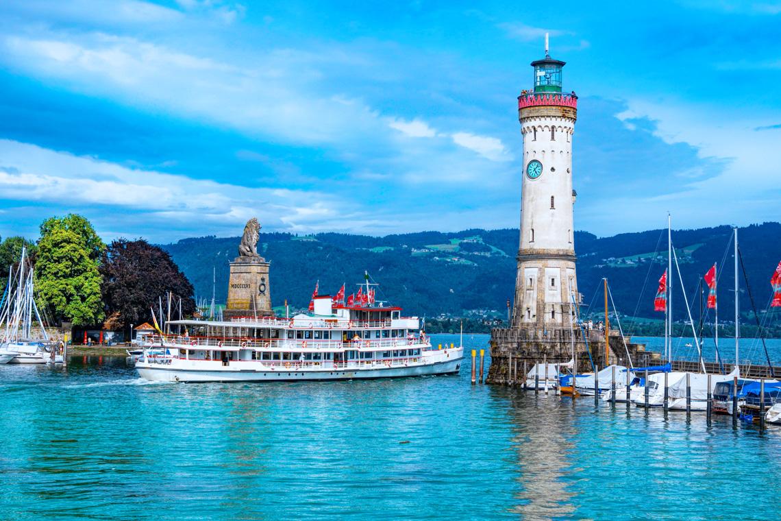 Der Hafen von Lindau ist die Attraktion der Stadt.