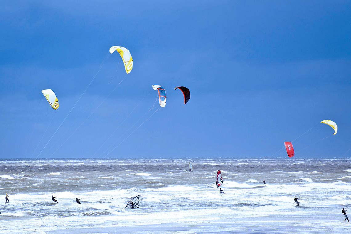 Die Nordsee ist ein wahres Mekka für alle Freunde des Wassersports.