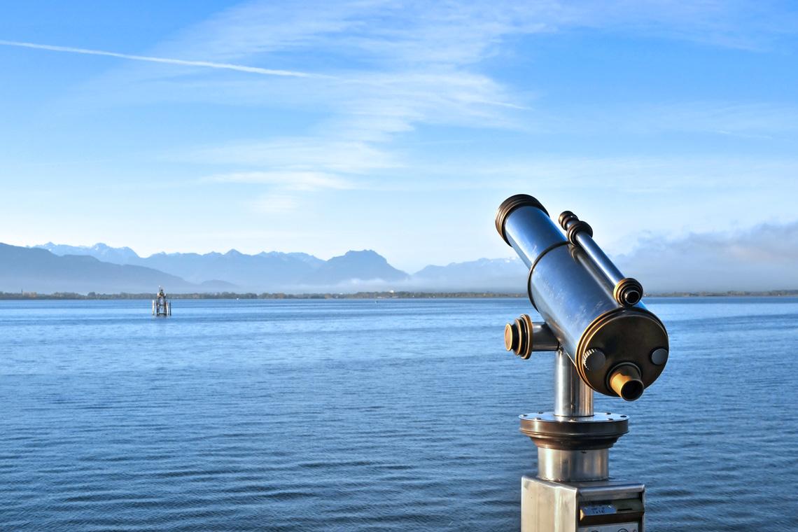 Urlauber erwarten traumhafte Seepanoramen beim Camping in Lindau.